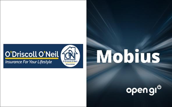 O'Driscoll O'Neil Logo; Mobius Word; Open GI Logo; Starburst background